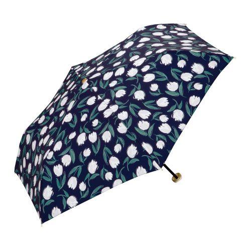 Wpc. 雨傘 折りたたみ傘 ジッパーケースタイプ チューリップ ミニ