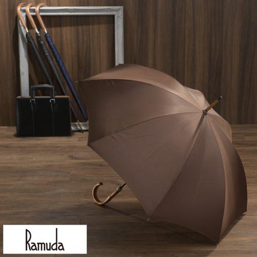 ラムダ(Ramuda) 富士絹 細巻き雨傘 8本骨 65cm