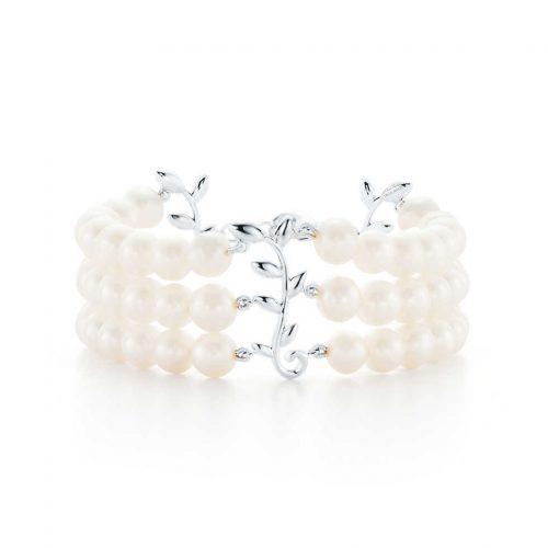 ティファニー(Tiffany & Co.) オリーブ リーフ 3ロウ ブレスレット