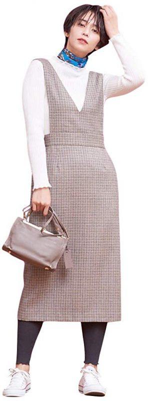 ルージュ・ヴィフ ラクレ(Rouge vif la cle) チェックジャンパースカート