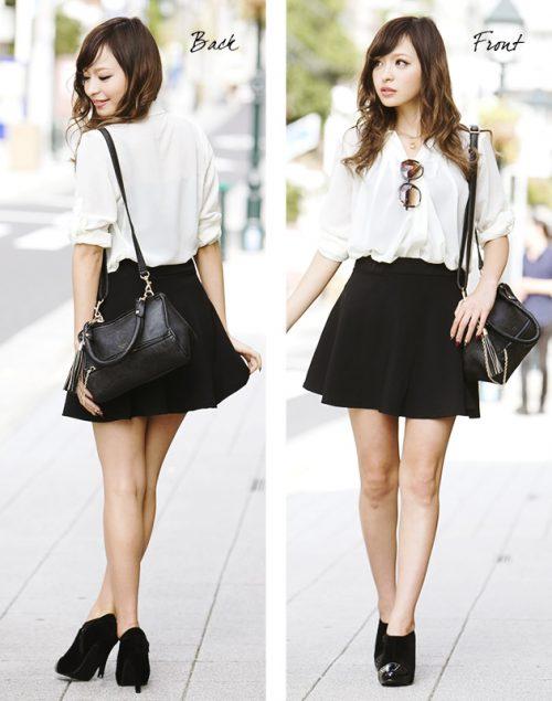 aquagarage ハイウエストフレアスカート (High Waist Flare Skirt)