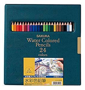 サクラクパレス(SAKURA) 水彩色鉛筆24色
