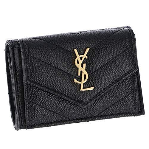 サンローランパリ(SAINT LAURENT PARIS) 三つ折り財布 ミニ財布 MONOGRAMME