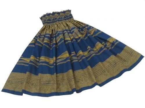 フラショップマリレイ シングルパウスカート ブルー・カヒコ柄 460
