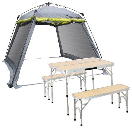 クイックキャンプ(QUICKCAMP) スクリーンタープ テーブルセット QC-ST300