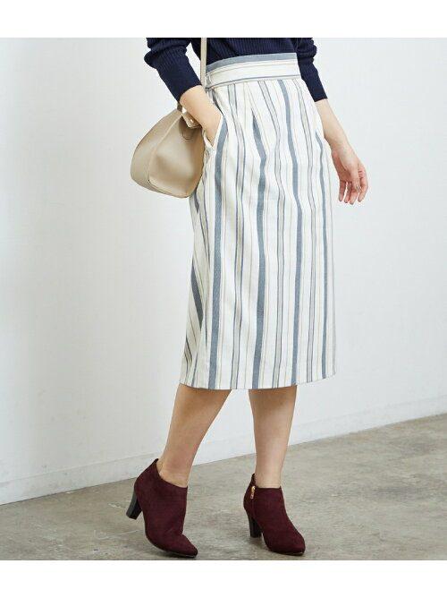 ロペピクニック(ROPE' PICNIC) ストライプタイトスカート