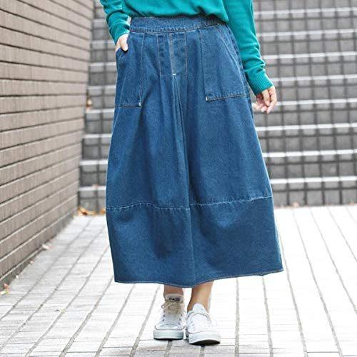 バロウズアンドサン(BURROWS & SUN) バルーンデニムスカート