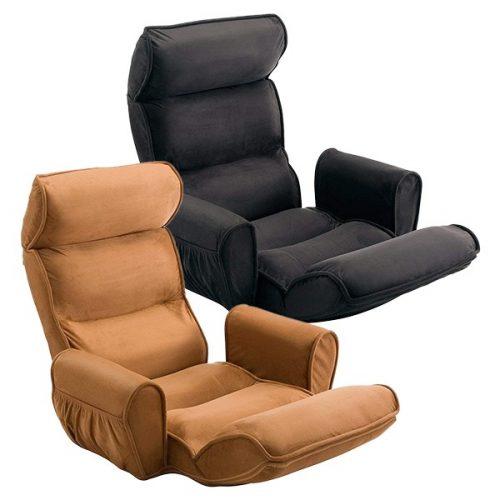 サンワサプライ(SANWA SUPPLY) 座椅子 ハイバック サイドポケット付