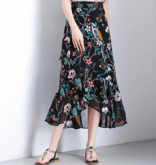 クリックルーム(Click Room) ロング丈ペプラムスカート