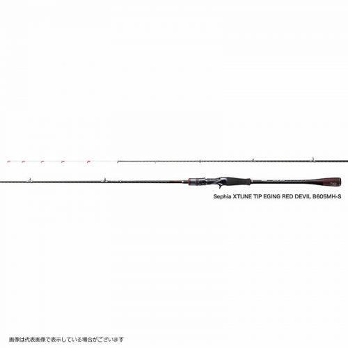 シマノ(SHIMANO) エギングロッド 17 セフィア エクスチューン ティップエギング レッドデビル B605MHS 6.5ft ティップラン