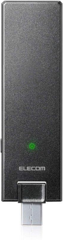 エレコム(ELECOM) 超薄型11ac対応Wi-Fi中継機 WTC-1167US-B