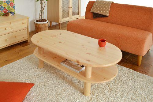 コンフォートスタイル(COMFORT STYLE) センターテーブル タピオ110 天然杢フィンランドパイン無垢材