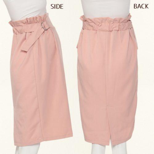 西松屋 ハイウエストサイドギャザータイトスカート