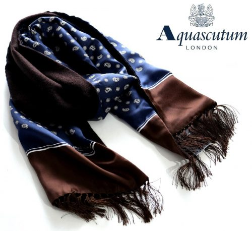 アクアスキュータム(Aquascutum) リバーシブルストールマフラー