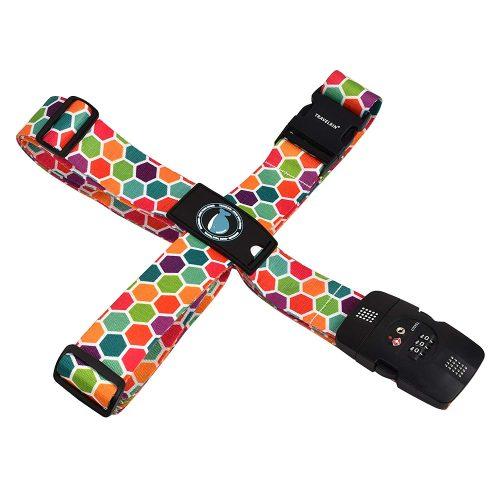 クロース(Kroeus) スーツケースベルト TSAロック 十字型