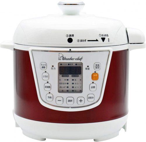 ワンダーシェフ 家庭用マイコン電気圧力鍋 楽ポン OEDC30-R1 310163