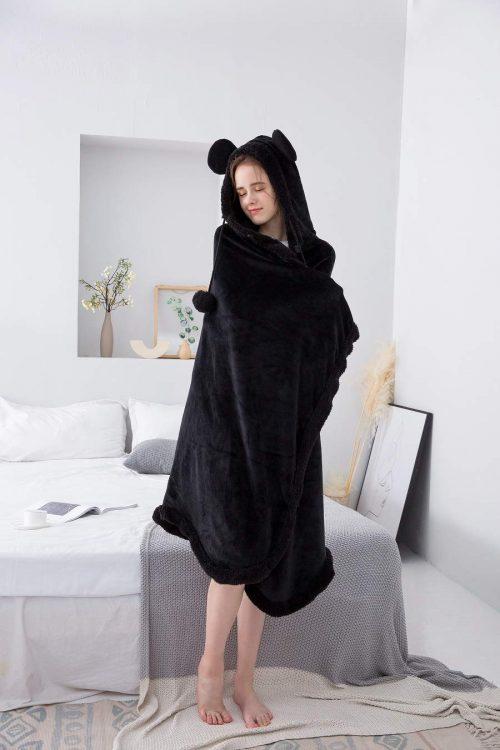Winthome 着る毛布 ポンチョ