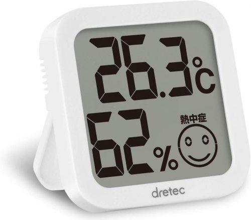 ドリテック(DRETEC) デジタル温湿度計 O-271WT
