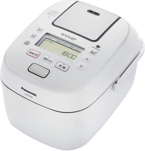 パナソニック(Panasonic) 炊飯器 5.5合 圧力IH式 Wおどり炊き ホワイト SR-PW109
