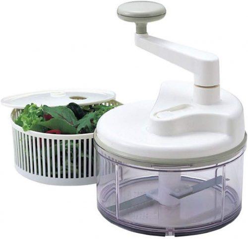 貝印 NEWアットミジン2 回転式みじん切り器 水切り器付 DH0288