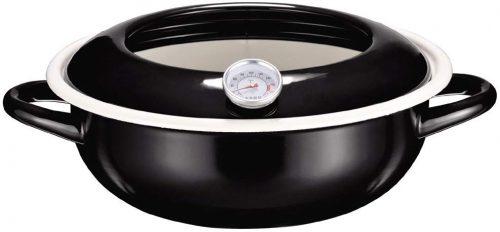 パール金属(PEARL METAL) ジーヴォ ホーロー 温度計付天ぷら鍋  HB-1719 23cm
