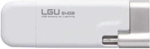 ロジテック(Logitec) ライトニングUSBメモリ LMF-LGU264GWH