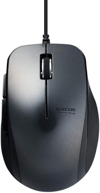 エレコム(ELECOM) 静音5ボタン BlueLED 有線マウス M-BL28UBSX