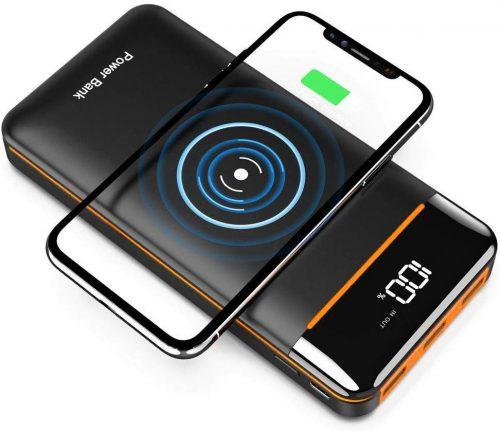 RLERON モバイルバッテリー Qi ワイヤレス充電器