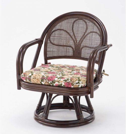 タンスのゲン ラタンチェア 回転式 高座椅子