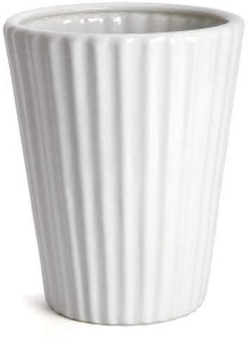 カネ由陶業(KANEYOSHI) 陶器 7号 20.5cm 植木鉢 白