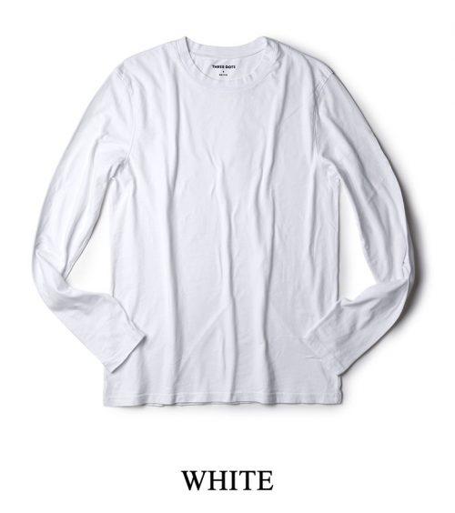 スリードッツ(three dots) 長袖クルーネックTシャツ