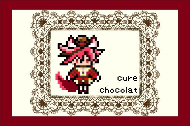 キラキラ☆プリキュアアラモード・キュアショコラのアイロンビーズ図案