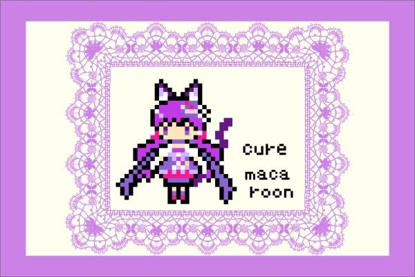 キラキラ☆プリキュアアラモード・キュアマカロンのアイロンビーズ図案