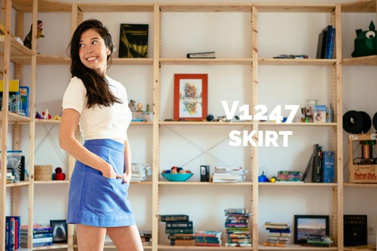 Rachel Comey x Vogue 1247 made by Saki Jane - sakijane.com - V1247 sewn in a brushed denim sourced from Fabric Depot in Portland, Oregon