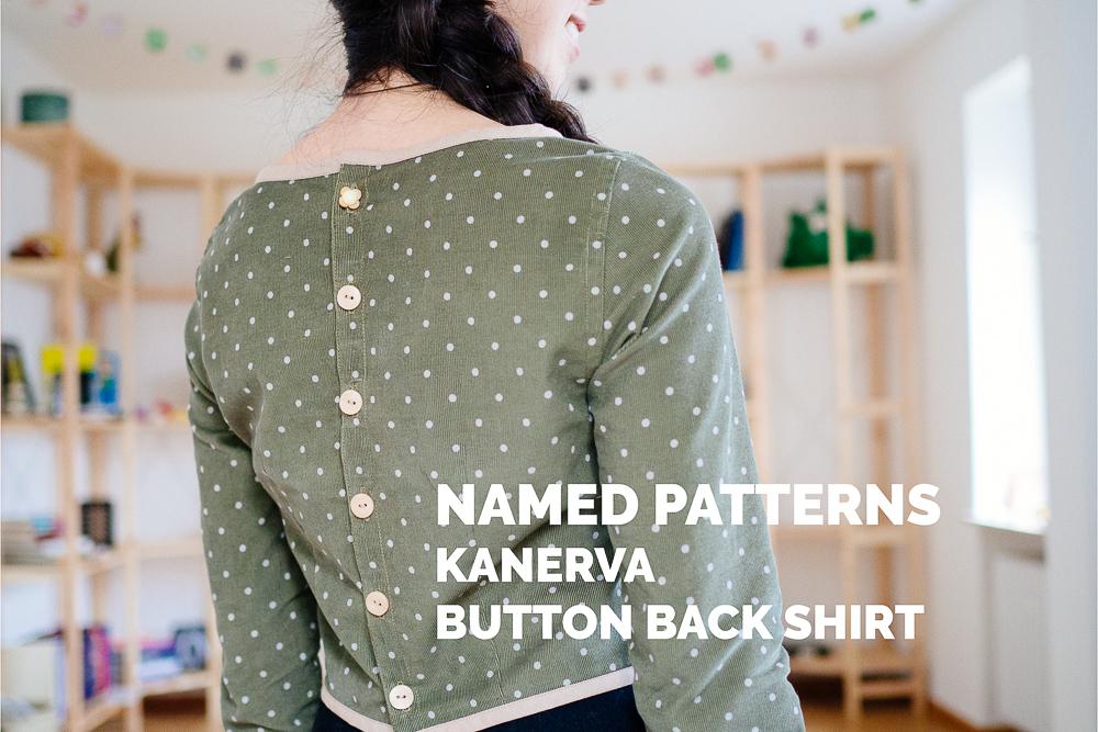 Named Patterns - Kanerva Button Back Shirt