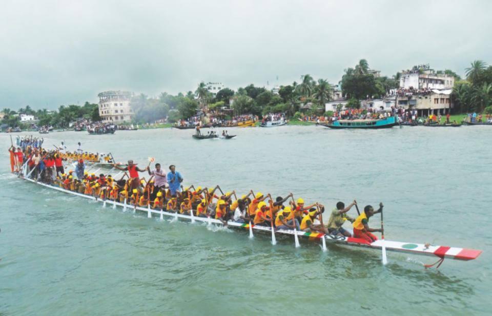 boat race on Titas river, Brahmanbaria
