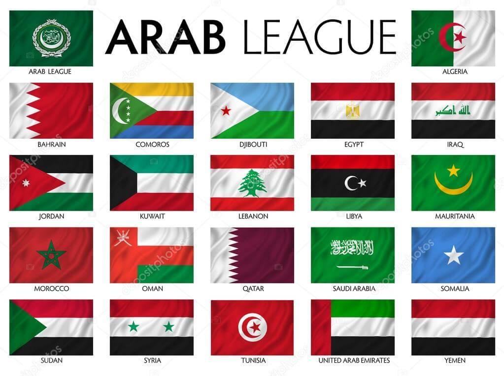 Arab world flags, Arab league, Arab countries