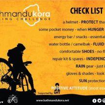 Checklist for the trip. CHECK!