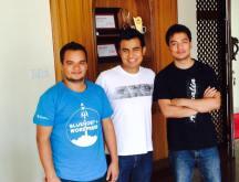 With Yam B Chhetri and Bezil Shrestha