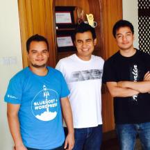 With Yam B Chhetri and Bezil Shrestha