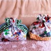 マリオの生地でコップ袋とお弁当袋