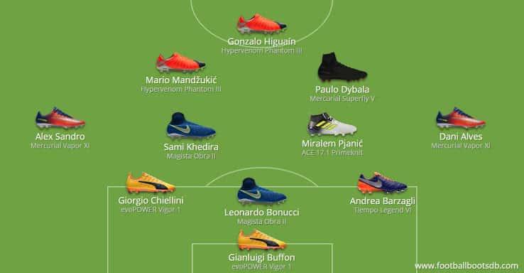 Her er støvlerne som spillerne bar under Champions League finalen 2