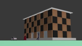 Exterior elevation for model town
