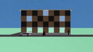 Exterior elevation for model town4