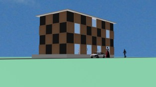 Exterior elevation for model town5