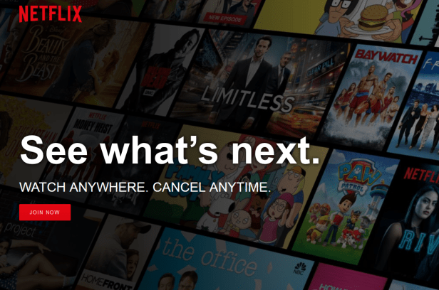 Netflix Canada Front Page