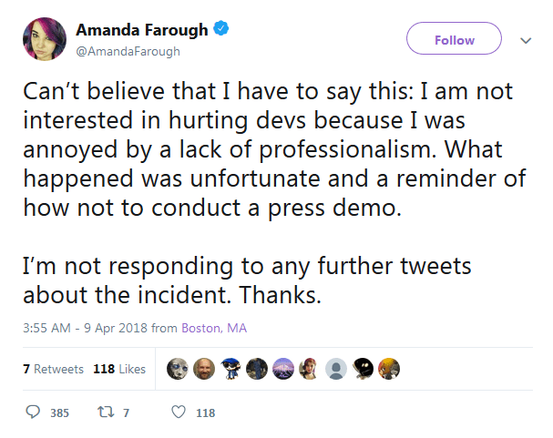 Amanda Comment 2