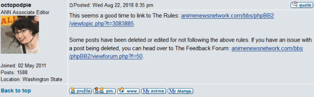 ANN Censorship Reminder