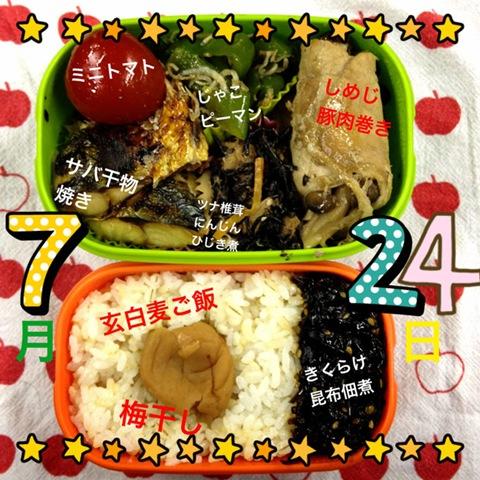 今日のダイエット弁当(2012年7月24日)