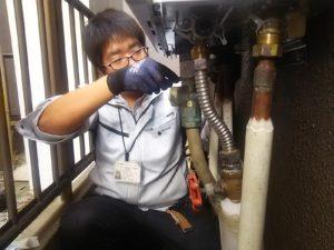 高効率ガス給湯器の取り付け工事